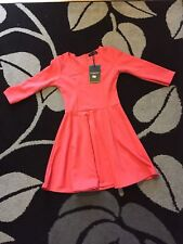 Petite 3/4 Sleeve Knee Length Skater Dresses for Women