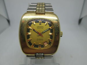 VINTAGE GRUEN PRECISION DATE GOLDPLATED AUTOMATIC MENS WATCH