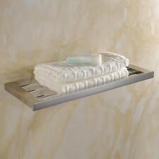 SUS304 Stainless Steel Bathroom Shelves Towel Rack Wall Mounted Organizer Chrome