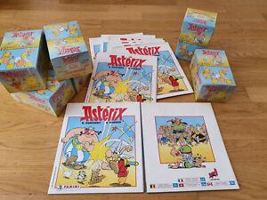 Panini Asterix (1987) sticker box/display + leeres/empty album,100 packets/Tüten