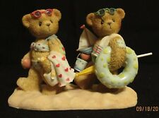 Cherished Teddies Figurine. Marilyn & Blair 2002 USA Exclusive Beach #111693