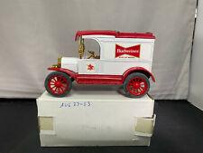 Ertl Budweiser Beer 1913 Model T Van Truck Coin Bank 1/30 Scale Diecast