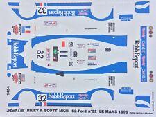 1/43 Decal, Riley & Scott S2 Ford, #32, Apicella/Rosenblad/Lewis, Le Mans 1999