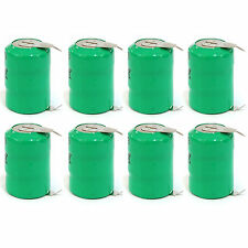 8 pcs Ni-MH 80mAh 3.6V button Cell Rechargeable Battery with tab Green US Stock