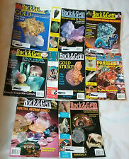 Lot of 8 2001 Rock & Gem Magazines Gold Fossils Turquoise Minerals Jewelry