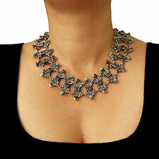 Large 925 Sterling Taxco Silver Matl Design Necklace