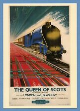BRITISH RAIL POSTCARD - ADVERTISING POSTER FOR THE QUEEN OF SCOTS TRAIN