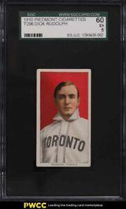 1909-11 T206 Dick Rudolph SGC 5 EX