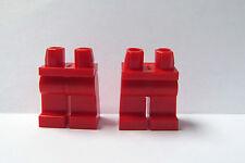 LEGO 2 X piernas para Minifigura Rojo