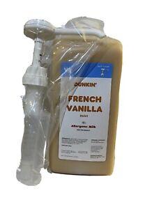 Dunkin Donuts French Vanilla Swirl 64 Oz Jug With Pump