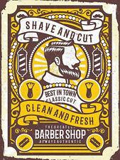 BARBER SHOP sign vintage style retro metal wall door plaque Men Barbershop Decor