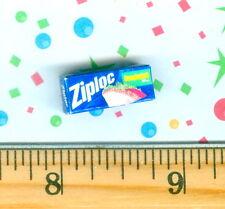 Dollhouse Miniature size Sandwich Plastic Zipper Bags Box  # Z