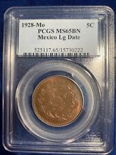 MEXICO ESTADOS UNIDOS 1928 5 CENTAVOS COIN CERTIFIED UNCIRCULATED PCGS MS65-BN