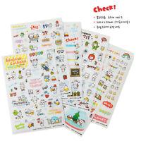 Kawaii 6X Pig Transparent Calendar Diary Book Sticker Scrapbook Decoration FO