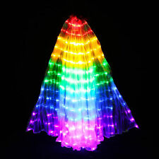 AU LED Colored Wings Glow Belly Dance Props Butterfly Performance Stage Costume
