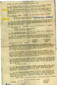 Richard Wilcox Signed Restricted Document BAS D87727 USS Indianapolis Rescue