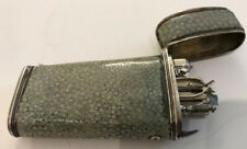 A 19th Century Continental Silver And Shagreen Etui