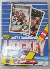 1991 TOPPS FACTORY SEALED BOX OF HOCKEY PICTURE CARDS WAX PACKS