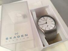 Skagen 916XLSSS Men's Slimline Watch Stainless Steel Silver Face