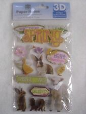 Paper House Productions 12 pc 3D stickers - SPRING