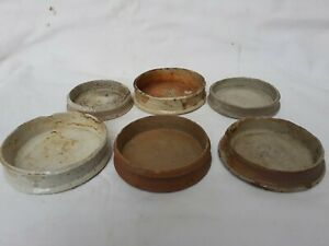 6 early ginger jar lids Victorian
