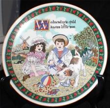 Vintage 1993 ROYAL WORCESTER Birthday Plate Sue Scullard WEDNESDAY'S CHILD Plate