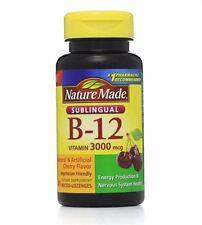 Nature Made Vitamin B-12 3000mcg, Sublingual Lozenges, Cherry 40 ea (Pack of 4)