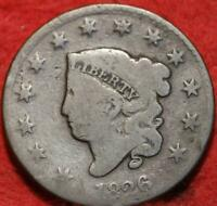 1826 Philadelphia Mint Copper Coronet Head Large Cent