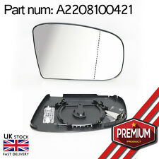 Heatable Wide Angle Mirror Glass Right Side + Base For Mercedes S Class W220