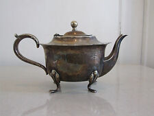 Antique Silver Plated EPNS Lovely Coffee Pot on 4 Paws / Feet - Beautiful Shape!