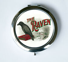 The Raven Compact MIRROR Pocket Mirror hipster victorian gothic crow poe