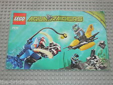 Notice Building instruction booklet LEGO AQUARAIDERS set 7771 Angler Ambush