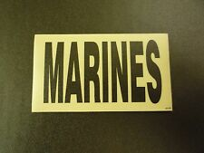 """MARINES BLACK ON TAN PCX PATCH PAIR 3.5"""" x 2"""" WITH VELCRO® BRAND FASTENER"""