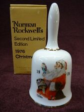 Norman Rockwell Christmas Bell 1976 2nd Edition By Dave Grossman  (a2916)
