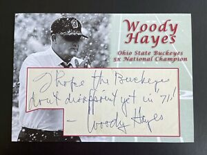 Woody Hayes Signed Custom Cut 5x7 Autograph Ohio State Football
