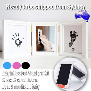 1/2 X Baby Paw Print Foot Photo Frame Touch Ink Pad Baby Souvenir Gift