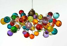 Handmade Bubbles Lighting, Ceiling Pendant light with Multicolored bubbles