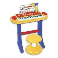 PIANOLA TASTIERA ELETTRICA 31 TASTI CON SGABELLO MICROFONO MP3 TOY BAND BONTEMPI