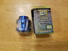"""ACS Crossfire 1"""" External Threadless Sealed Bicycle Headset - Ano Blue No Cap"""