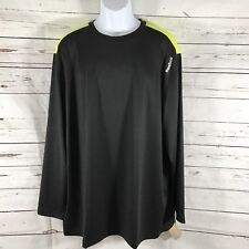 Reebok Crossfit Mens Long Sleeve Shirt Black/Yellow Size 2XL New