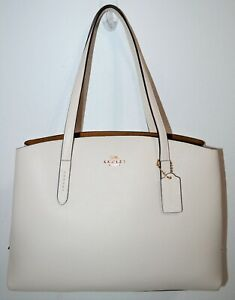NWT COACH Chalk Pebbled Leather Large Charlie 40 Carryall Bag Purse 78220 $475