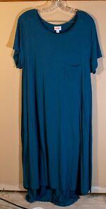LulaRoe Carly Dress Solid Dark Teal Size XL