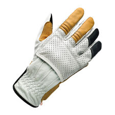 Biltwell Borrego Motorcycle Gloves, Leather, Grey, SIZE XS Ce Approved
