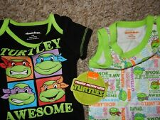 Nwt 0-3M Teenage Mutant Ninja Turtles Bodysuits Set Tank top Short Sleeve Shirts