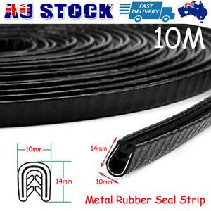 10M Pinchweld Pinch Weld Car Rubber Seal Edge Door Trim Mould Metal Clip 10x14mm