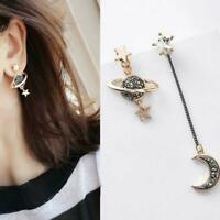 Korean Style Moon Star Planet Drop Dangle Earrings Asymmetric Women Jewelry Top
