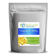60 cápsulas de vitamina E 400iu-Alta Calidad Softgel Cápsula dieta suplemento de Reino Unido