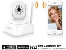 CAMERA COULEUR MOTORISEE WIFI SANS FIL IP RESEAU ETHERNET 720p HD PAN/TILT