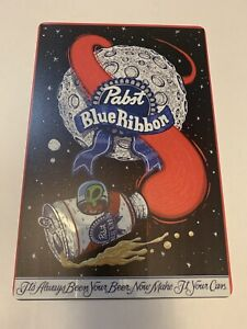 pabst blue ribbon Beer Tin sign Alien Poster  Garage Man cave Metal Pbr Bar New