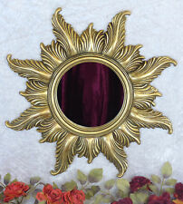 Miroir Soleil Miroir mural Gold cadre ancien miroir de salle 50 cm x 50 cm DECO Sun
